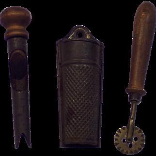 Trio of Vintage Kitchen Items