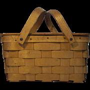 Vintage Basketville Vt. Stamped Picnic Basket