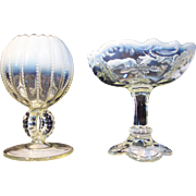 Pair of Opalescent Glass Bowls