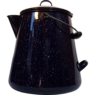 Dark Blue Graniteware Kettle