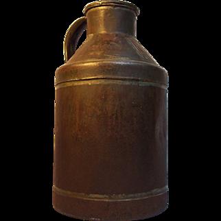 19th Century Norton Bros. Handled Metal Can