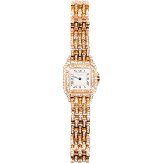 18 Karat Gold and Diamond Cartier Panthère Wristwatch