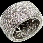 Platinum and Diamond Set Ring