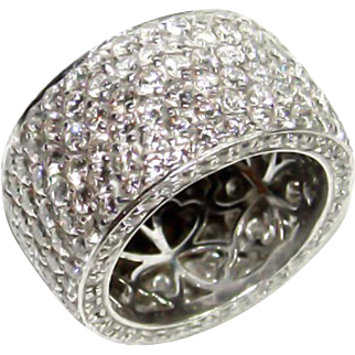Platinum and Diamond Set Ring