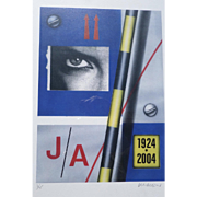 "Peter Klasen (1935) ""JA 1924-2004"" High definition digital colour print hand signed and numbered 3/45"