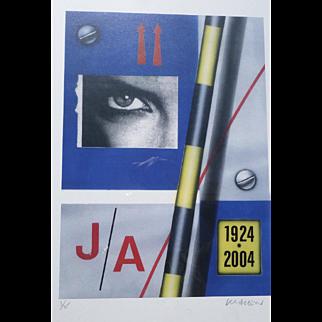 "Peter Klasen (1935) ""JA 1924-2004"" High definition digital colour print hand signed and numbered 3/45"