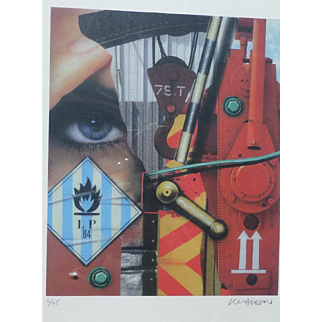 """Peter Klasen (1935) """"LP 84"""" High definition digital colour print hand signed by the artist and numbered 6/45"""