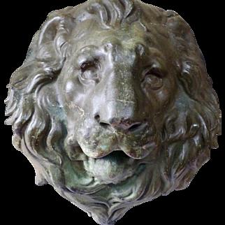 Cast Iron Lion's face. Italy. XIXth Century.