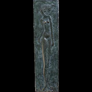 Marilia Fayh Bronze Relief Sculpture.