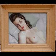 Robert Duflos (1898-1956) Young Woman Nude. Pastel