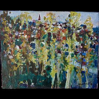 "Pierre Gaillardot (1910-1922) ""Environs De Coulommiers"" Oil on canvas"