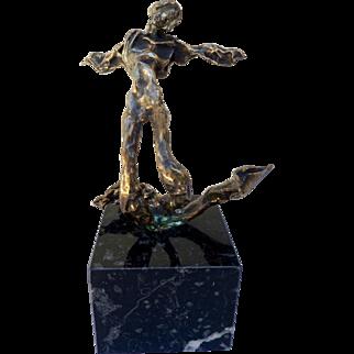 """Salvador Dali """"Triton Aile"""" 1972 Limited Edition Bronze Sculpture"""