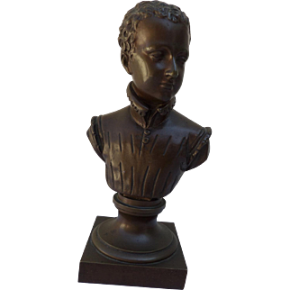 Bronze Bust of Henri IV of France, signed Bosio.