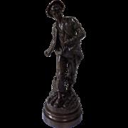 MOREAU, Mathurin XIX Century French Bronze Brown patina
