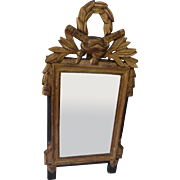French 18th Century gilded mirror with fronton