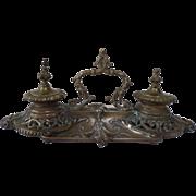 Brass Inkwell French 19th Century Napoleon III