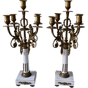 Pair of French XIX Century Candelabra