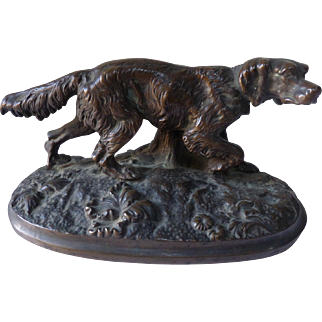 Bronze Sculpture of a Setter 19th Century France