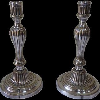 Louis XVI Silver Plated Candlesticks France circa 1770