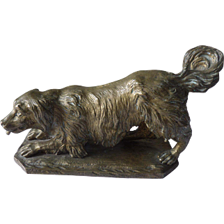 Bronze Sculpture of a Setter Dog late 19th Century French