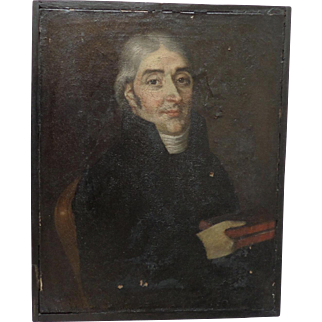 Portrait of a Clerk French 18th century, oil on canvas.