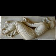 """""""Saint Cecile"""" Alabaster sculpture. After Stefano Moderno"""