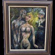 """""""A la flamme d'une bougie"""" Edouard Joseph Goerg (1893-1969) Oil on Canvas"""