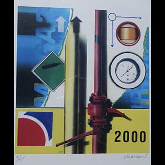 "Peter Klasen ""Manettes"". High definition digital colour print signed and numbered."