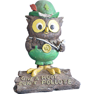 Woodsy Owl Ceramic by C.E. Bent & Son 1972