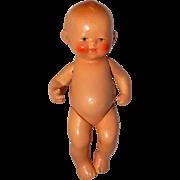 "C.1930 German Composition Miniature Dollhouse Baby  5.5"""