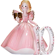 "Josef Original Pink Birthday Figurine 10 Years, Original paper sticker, 5"" tall"