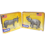 1992 Breyer Political  Election Edition; Elephant / Donkey Clinton Election Year