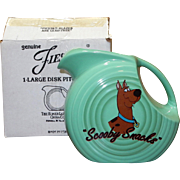 "Homer Laughlin ""Warner Bros"" Fiesta Ware Scooby Snacks Disc Pitcher"