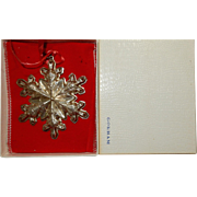 1973 Gorham Sterling Silver Christmas Snow Flake ornament.