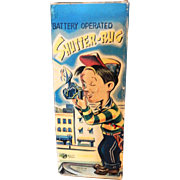 "TN Battery Operated ""SHUTTER-BUG tin toy: Made in Japan c.1960 original box: Extremely Rare & Hard to find: Good Working Condition"