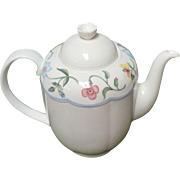 "Villeroy & Boch ""Mariposa  Teapot ; Unused Condition  7 X 9 INCH, 5.5 Cups"