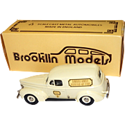 Brooklin Models Diecast 1940 Ford Ambulance Philadelphia Bureau of Fire #9;  1/43 Scale; made in England