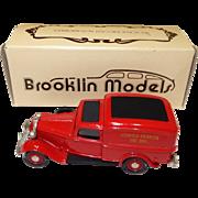 Brooklin Models Diecast 1936 Dodge Van Litchfield Volunteer Fire Dept. 1/43 Scale; made in England #15