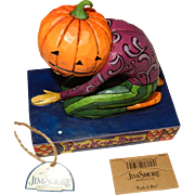 4005339 Jim Shore Peek a Boo Pumpkin Head Figurine New in Box 2006 Enesco