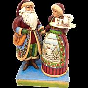"Jim Shore Santa & Mrs. Claus #4005274 ""Tis the Season for Loving Hearts"" - 2006"