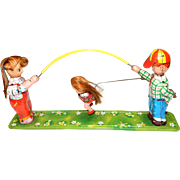 c.1950s Wind Up TPS tin toy;  Jumping Rope ; In good working Condition , tin is very good