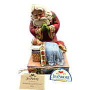 "Enesco Jim Shore ""The Real Meaning of Christmas"" St. Nick / Santa with Baby Jesus 4010488"