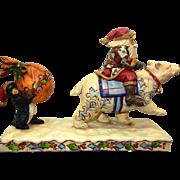 "Jim Shore Christmas Santa w/Polar Bear ""Delivering Winter Wishes"" #4005320 2006"