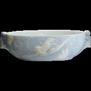 Phoenix Glass Art Deco Diving Nude Bowl
