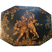 Exceptional Vintage Decoupage Lacquered Dresser Jewelry Box c. 1960's