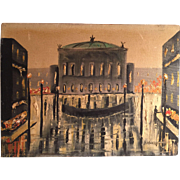 Vintage Signed Painting Of Venice at Night