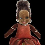 Vintage Norah Wellings Glass Eyed Islander Girl Doll