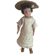 "Antique c.1900 17"" Pouty Faced Schoenhut Doll in All Original Clothes...Sweet Expression"