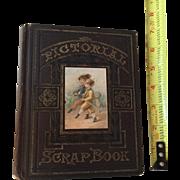 Circa 1876 All Original Victorian Scrap Album Book...Gorgeous