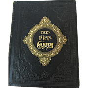 "Antique 1860's Autograph Album Book ""The Pet Album"" with Hand Written Reference to Civil War Plus Engravings"